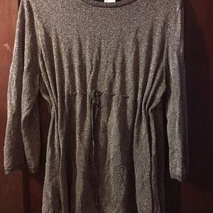 Sparkly sweater tunic